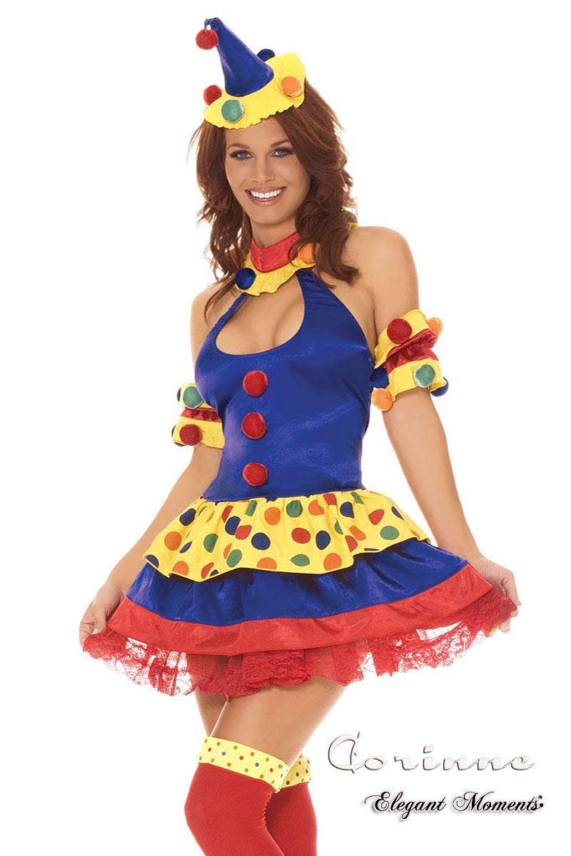 Costume clown 4 pezzi.